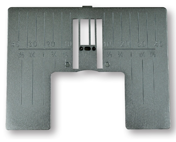 Straight Stitch Plate with Inch Markings.